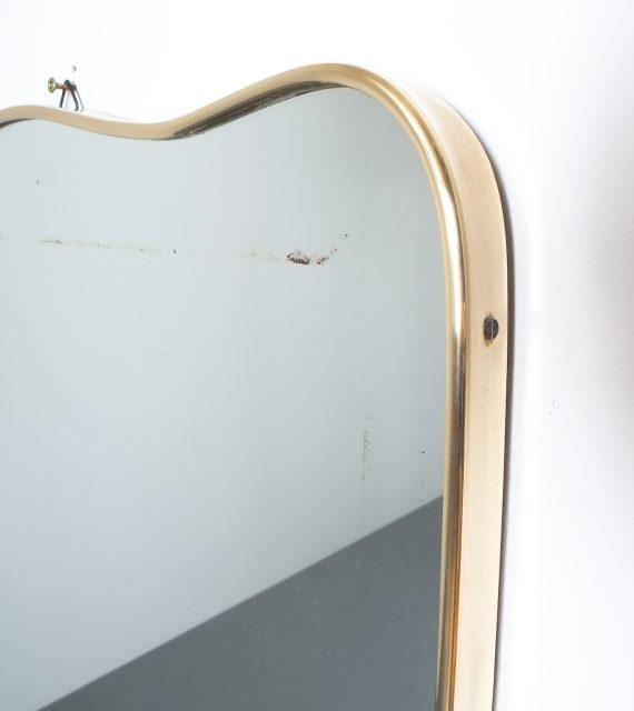 brass frame mirror italy 1950_03