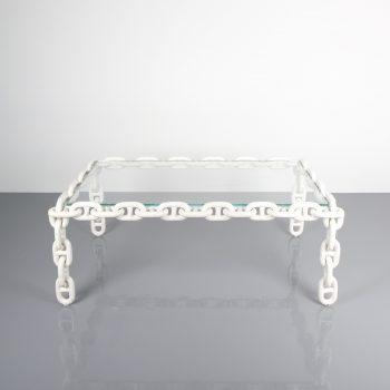chain link table Franz west white 3 Kopie