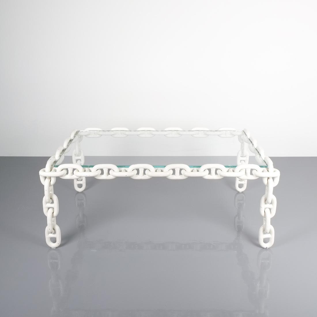 Attirant Chain Link Table Franz West White 3 Kopie
