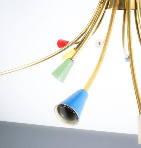 italian brass chandelier 1950_05 Kopie