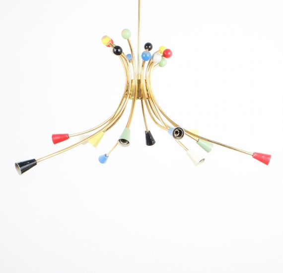 italian brass chandelier 1950_07 Kopie