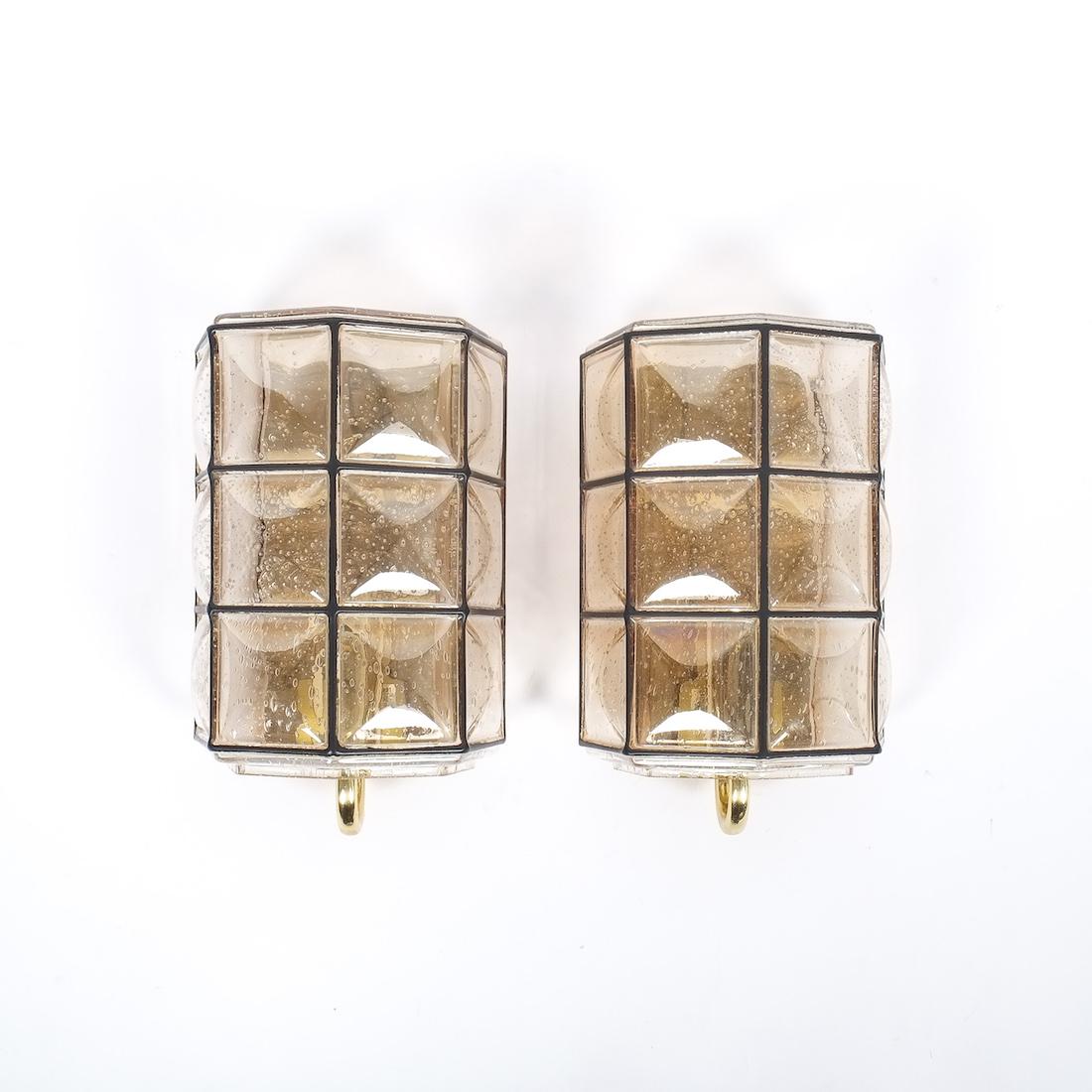 limburg iron gold sconces 1 Kopie  sc 1 st  DERIVE - Vienna & Limburg Pair of Brass and Glass Sconces Wall Lamps Germany 1960