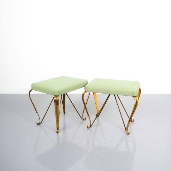 pair 1950 stools brass italy 6 Kopie