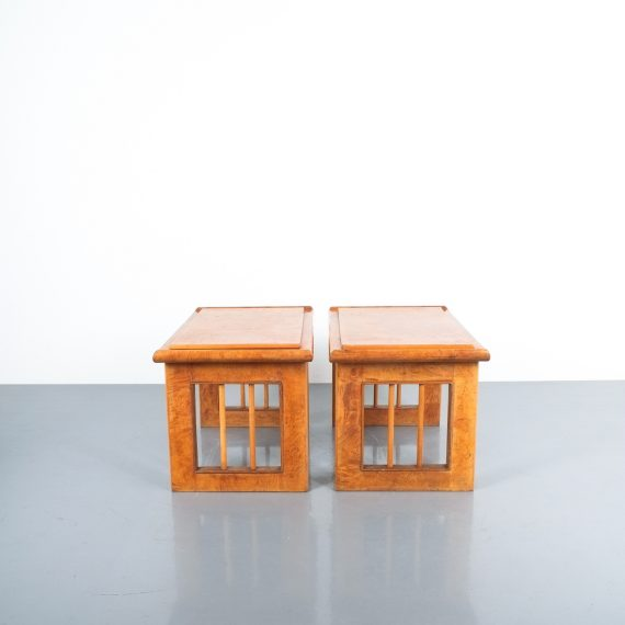 pair art deco nightstands side tables_03