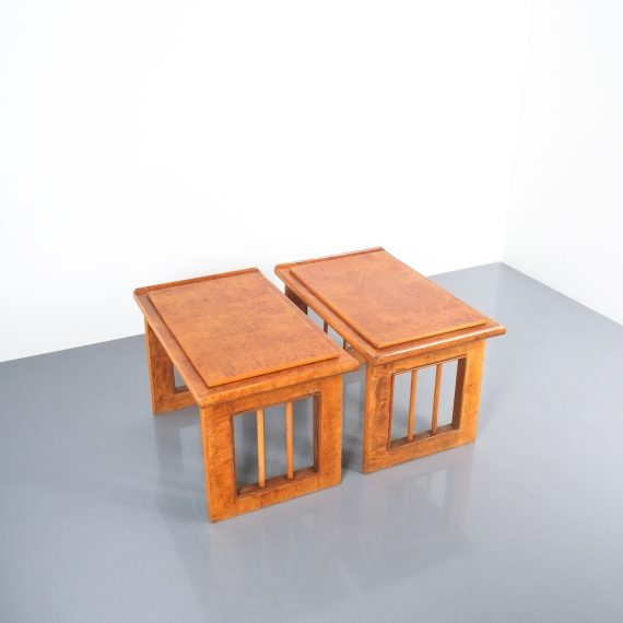 pair art deco nightstands side tables_04