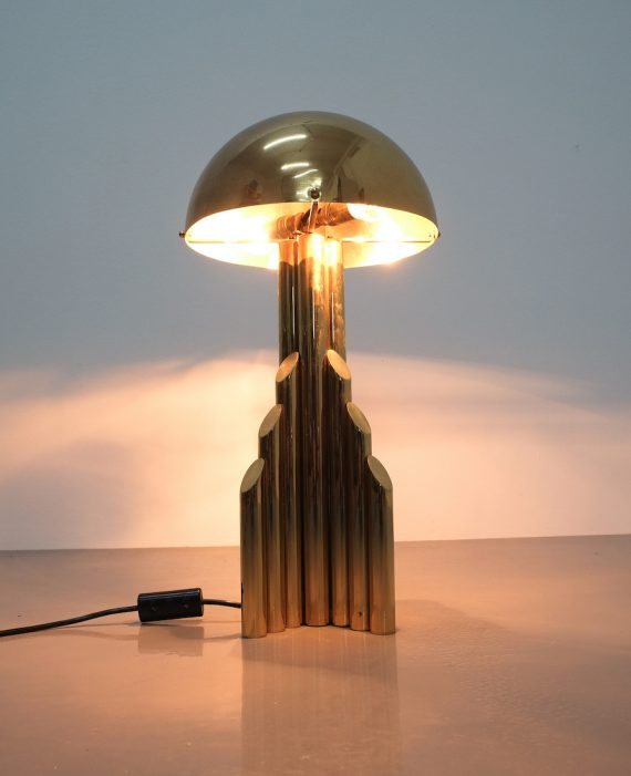 pair brass tube lamps 01