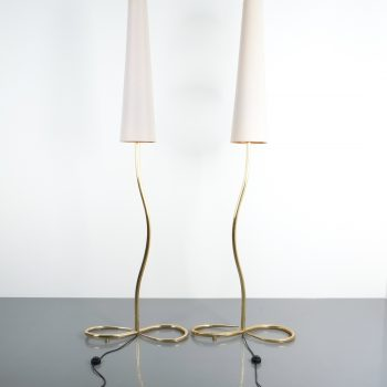large pair solid brass austrian floor lamps_04