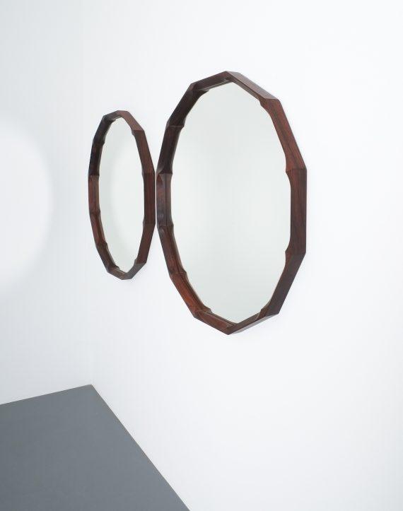 pair walnut mirrors Dino Cavalli_01