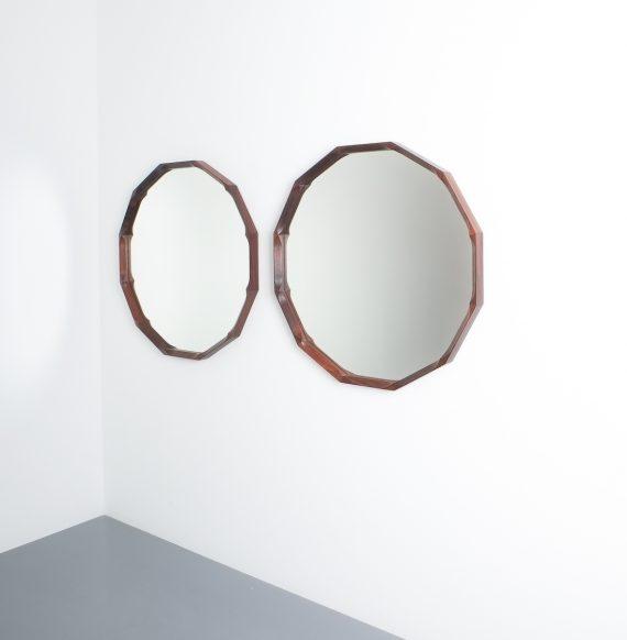 pair walnut mirrors Dino Cavalli_06
