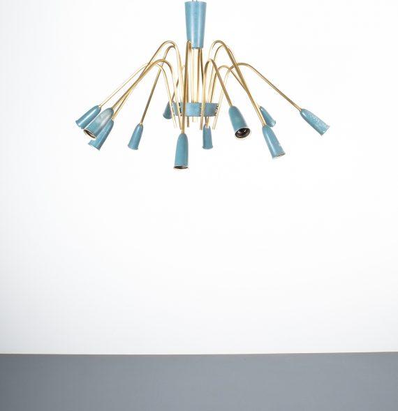 stilnovo large chandelier blue_05