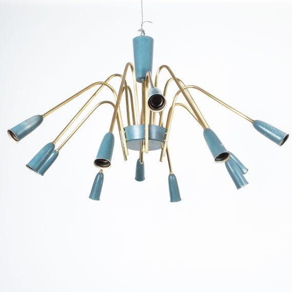 stilnovo large chandelier blue_06