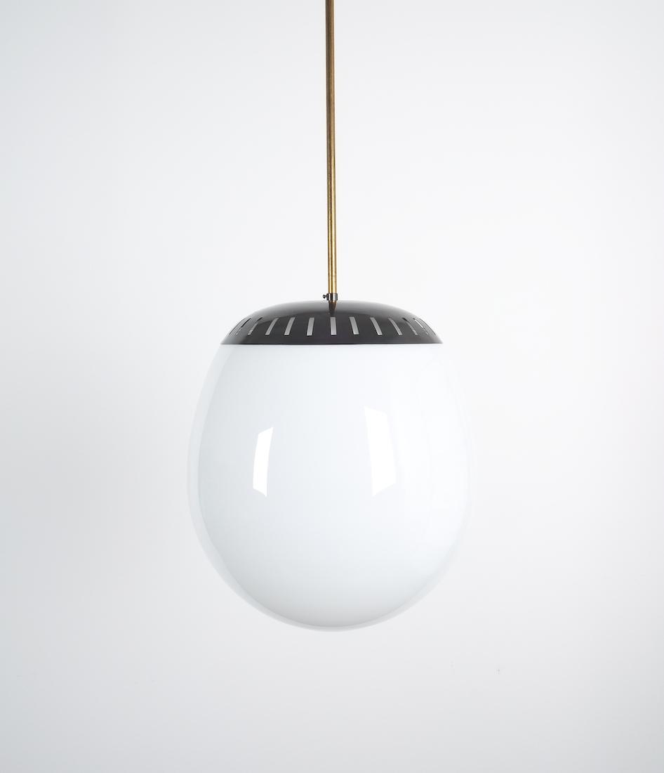 Stilnovo Large Ball Pendant Lamp Opal